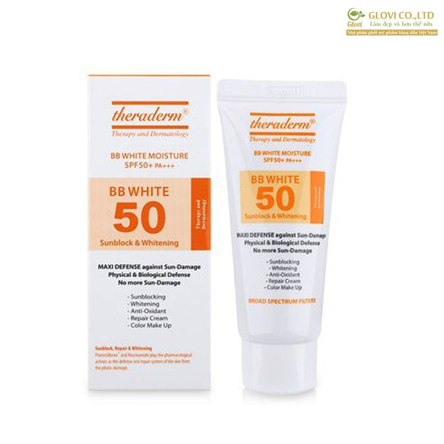 Kem chống nắng Theraderm - BB White Moisture SPF50+ PA+++